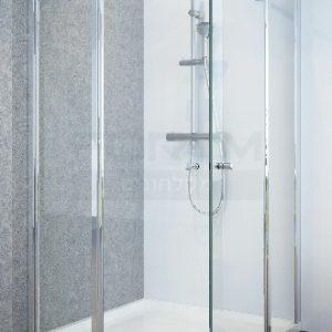 מקלחון פינתי 2 קבועים ו2 דלתות SelAqua