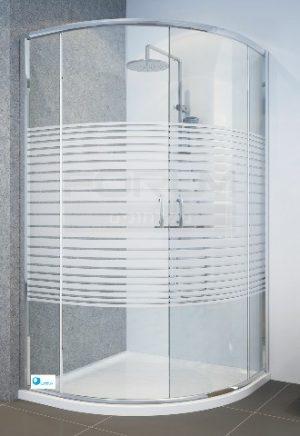 מקלחון פינתי הזזה מעוגל
