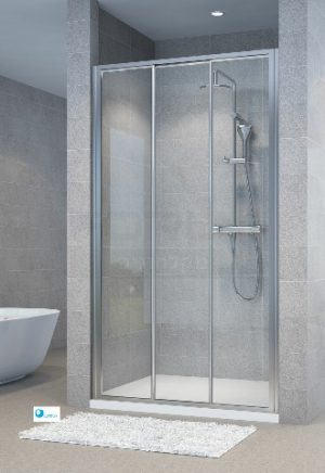 מקלחון חזית הזזה קבוע ו2 דלתות