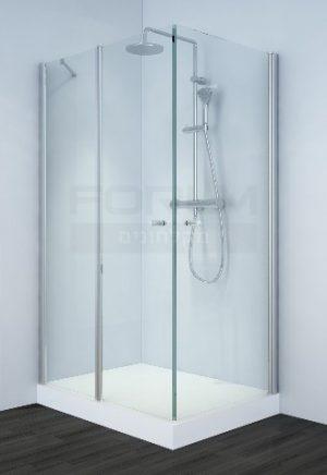 מקלחון פינתי דלת וקבוע עם דלת