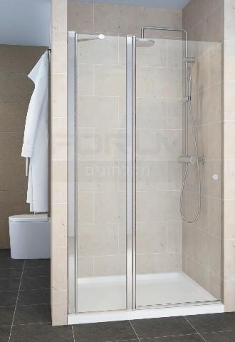 מקלחון חזית דופן קבועה ודלת מגב