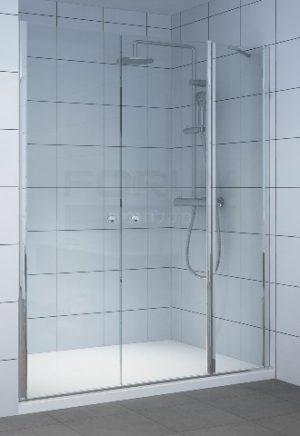 מקלחון חזית דופן קבועה ו2 דלתות