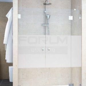 מקלחון חזית 8ממ קבוע ו2 דלתות