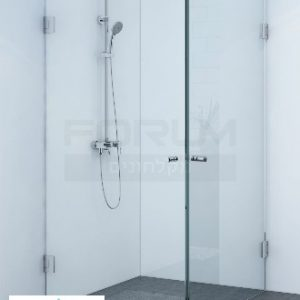 מקלחון פינתי 8ממ 2 דלתות Mike