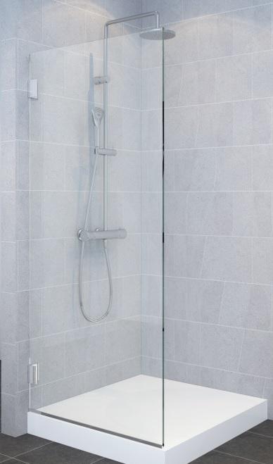 מקלחון 8 ממ דופן קבועה