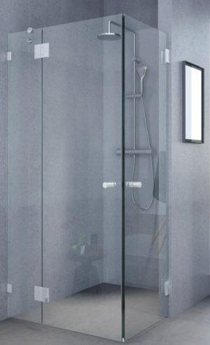 מקלחון פינתי 8ממ קבוע ו2 דלתות