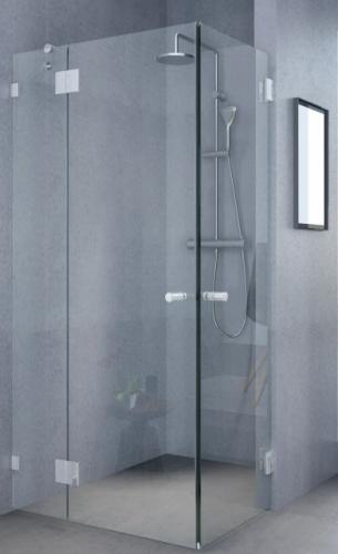 מקלחונים בפתח תקוה מקלחון פינתי 8ממ קבוע ו2 דלתות