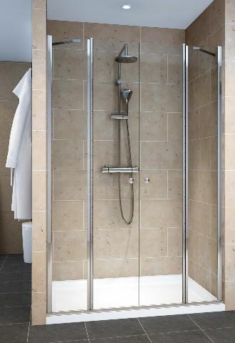 מקלחון חזית 2 קבועים ו2 דלתות