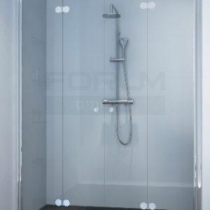 מקלחון חזית הרמוניקה מתקפל