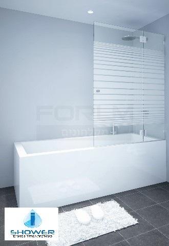 אמבטיון 8 ממ קבוע ודלת