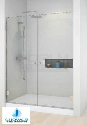 מקלחון חזית 8 ממ 2 דלתות