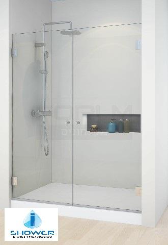 מקלחון חזית 8ממ 2 דלתות