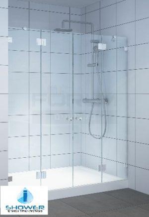 מקלחון חזית 8 ממ 2 קבועים ו2 דלתות
