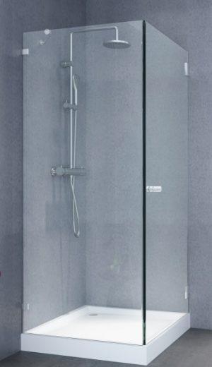 מקלחון פינתי 8ממ קבוע ודלת