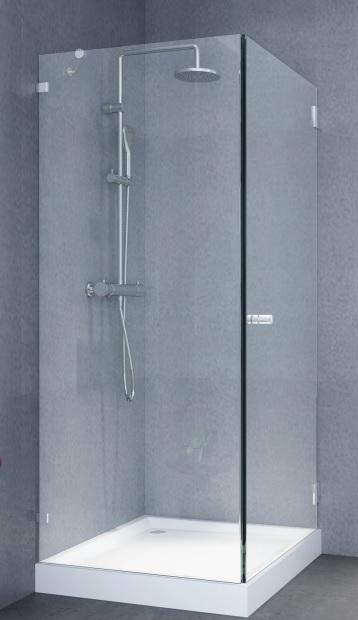 מקלחון פינתי 8 ממ קבוע ודלת