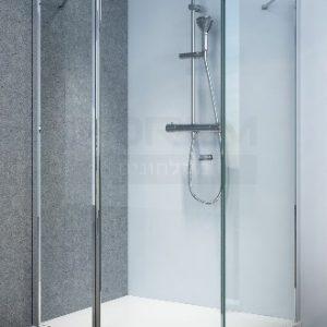מקלחון פינתי דופן עם קבוע ודלת