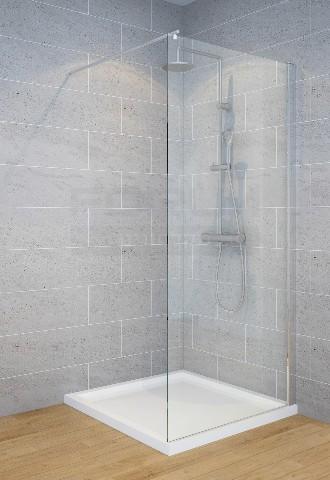 """מקלחון זכוכית קבועה 6 מ""""מ"""