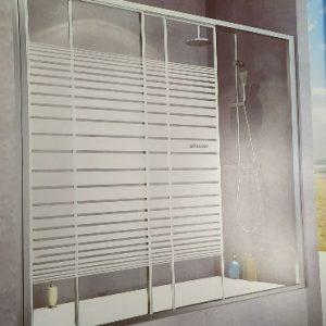 אמבטיון חזית הזזה קבוע ו2 דלתות