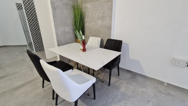 שולחן מלבני גרניט פורצלן 140X80