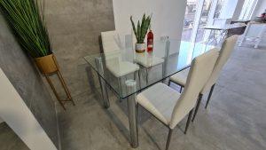 שולחן זכוכית מרובע – דגם GLASO2