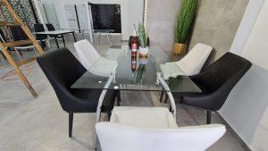 שולחן זכוכית מלבני – דגם GLASO3