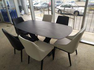 שולחן מלבני גרניט פורצלן 180X90