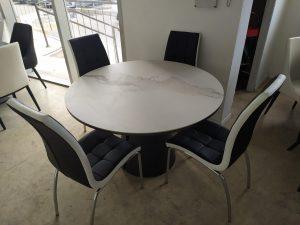 שולחן מעוגל גרניט פורצלן קוטר 120
