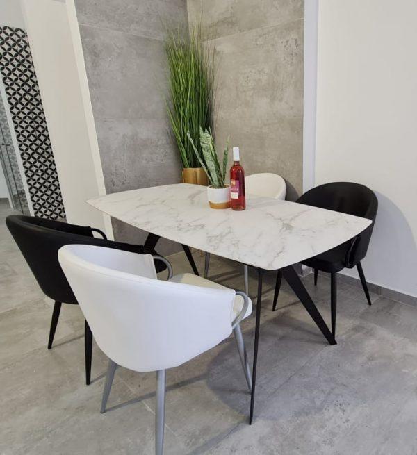 שולחן מלבני גרניט פורצלן 160X80