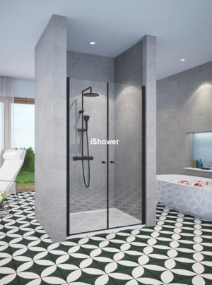 מקלחון חזיתי שחור 2 דלתות LIZI