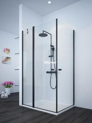 מקלחון פינתי שחור בהתאמה אישית  NAPOLI WA