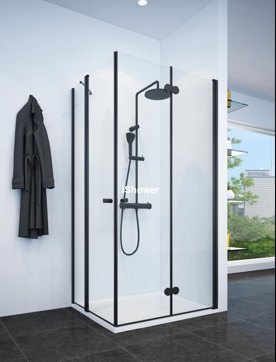 מקלחון פינתי שחור בהתאמה אישית NAPOLI WD